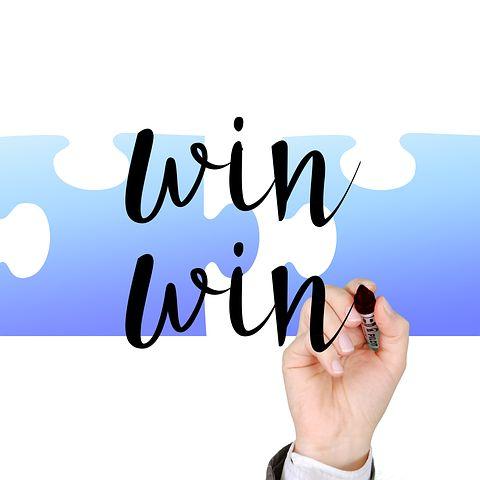 win win blue